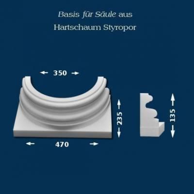 """Säulenbasis """"Wiesemann SB23"""" - unbeschichtet"""