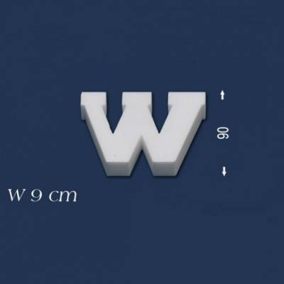"""Buchstabe """"W"""" - Größe 9 cm"""