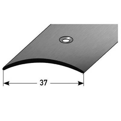 """Übergangsprofil """"Emmen"""" / Übergangsschiene / 37 mm, Typ: 16 (Edelstahl matt, 1 mm Stäke)"""