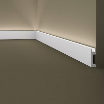 Innenwinkel | Sockelleiste / Lichtleiste | Wallstyl IL10 NMC | 80 x 23 | indirekte Beleuchtung