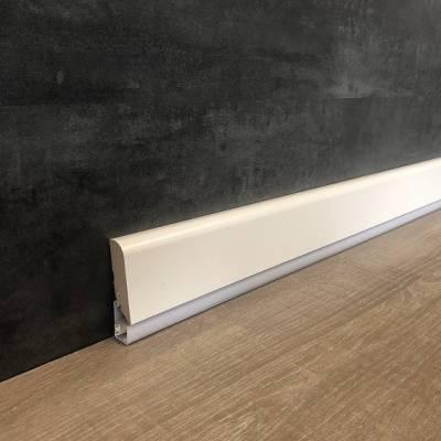 """Licht - Sockelleiste / Licht - Fußleiste """"Calusso"""" 19 x 85 mm weiß"""