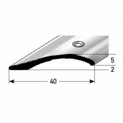 """Ausgleichsprofil / Anpassungsprofil """"Creston"""", Ausgleich: 2-16 mm, 40 mm breit, Aluminium eloxiert"""