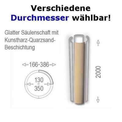 """Säulenschaft """"Wiesemann SP-glatt-b"""" mit glatter Oberfläche - wetterfest beschichtet (Default)"""