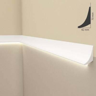 """Lichtleisten-Außenwinkel """"QL006"""" - Stuckleiste für indirekte Beleuchtung (aus hochfestem Polyurethan"""