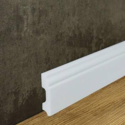 """Fußbodenleiste """"Utrecht"""" (NMC WALLSTYL® - FB1) aus schlagfestem, wasserbeständigem Kunststoff"""