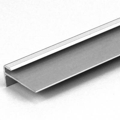 """Einfassprofil """"Eyeries"""" mit Nase für Designbeläge, Einfasshöhe 3 mm, Aluminium eloxiert, gebohrt"""