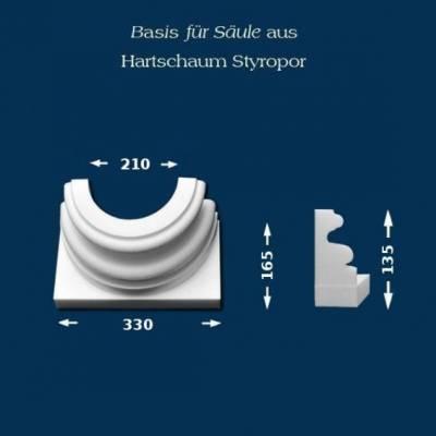 """Säulenbasis """"Wiesemann SB9"""" - unbeschichtet"""