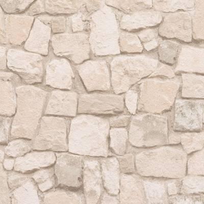 A.S. Creation Dekora Natur 6 | 692429 | Papiertapete Steintapete | 0.53 m x 10.05 m | Beige