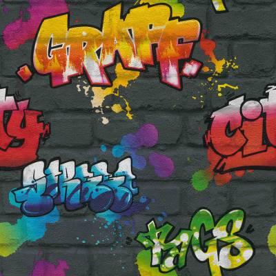 Rasch Kids & Teens III   237801   Papiertapete Muster & Motive   0.53 m x 10.05 m   Grau