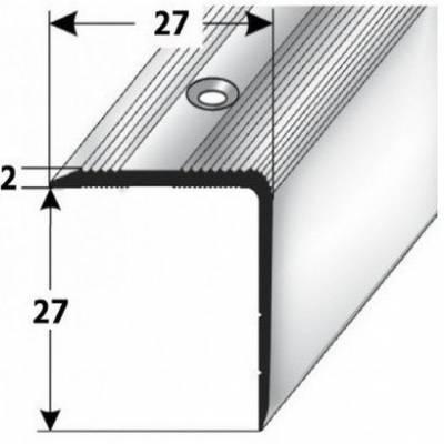 """Treppenkante """"Orvieto"""" / Treppenkantenprofil / Winkelprofil (Größe 27 mm x 27 mm) aus Aluminium eloxiert, gebohrt, von Auer Metall (Default)"""