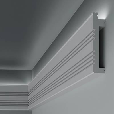 Lichtleiste / Stuckleiste 6.53.705 Lines   aus hochfestem und wasserfestem Polystyrol