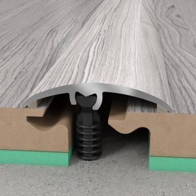 Übergangsprofil 30 x 5,4 mm | Aluminiumprofil 3 in 1 | Übergangs- Ausgleichs- und Abschlussprofil