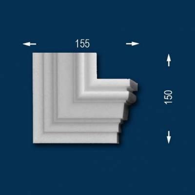 """Fassadenprofile """"Wiesemann FP12"""" - Eckendstück rechts"""