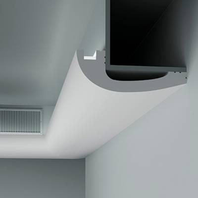 Licht - Stuckleiste 6.50.719 Lines | hochfestes, wasserfestes Polystyrol incl. Reflektionsklebeband