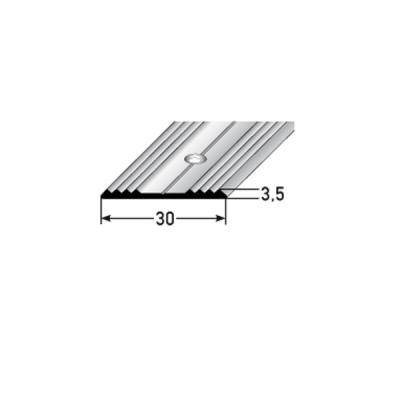"""Übergangsprofil """"Hilversum"""" / Übergangsschiene, 30 mm, Typ: 441 (Edelstahl gezogen, gebohrt)"""
