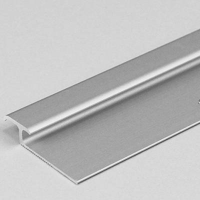 """Doppeleinschubprofil """"Leicester"""" für Laminat, 3 - 7 mm Einfasshöhe, Aluminium eloxiert, gebohrt"""