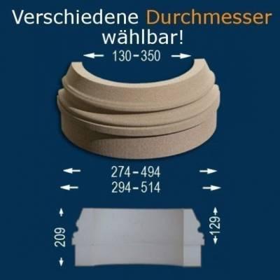 """Säulenbasis """"Wiesemann SB2-b"""", Durchmesser 13 -35 mm, wetterfest Beschichtet (Default)"""