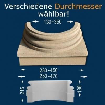 """Säulenbasis """"Wiesemann SB1-b"""", Durchmesser 130 - 350 mm, wetterfest Beschichtet"""