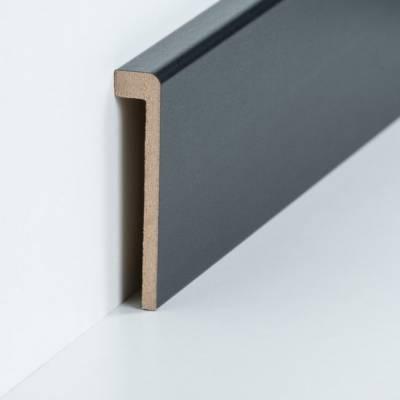 Abdeckleiste für Fliesensockel bis 85 mm (MDF foliert / 72.96.13.85.49) - Farbe: Schwarz (Default) 2gt43zrehtjt6et