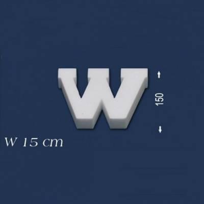 """Buchstabe """"W"""" - Größe 15 cm"""