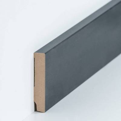 "Fußleisten / Sockelleisten ""Celle"" (MDF foliert / 721.168.45) - Farbe: Stahl dunkel (Default)"