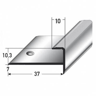 """Einschubprofil """"Matane"""", mit Nase für Laminat / Parkett, 10,3 mm Einfasshöhe, Aluminium eloxiert,"""