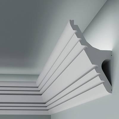 Licht - Stuckleiste 6.50.706 Lines | hochfestes, wasserfestes Polystyrol