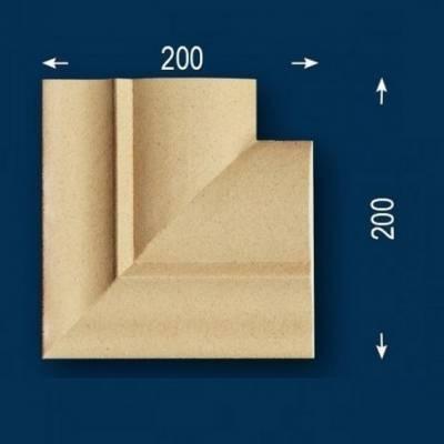 """Fassadenstuck / Fassadenelement """"FP22-b Außeneckstück"""" - beschichtet (Default)"""