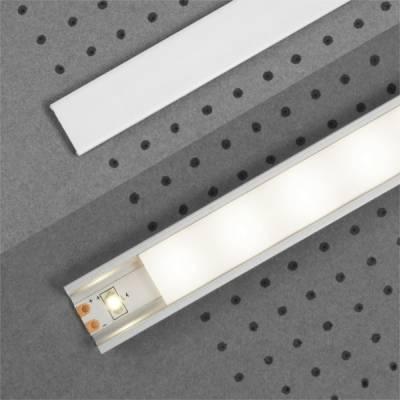 "Klick Abdeckung ""F"" für LED-Aluminiumprofile"