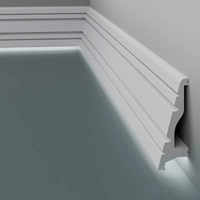 Licht - Sockelleiste / Fußleiste 6.53.703 Lines | aus hochfestem und wasserfestem Polystyrol
