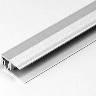 "Klick-Abschlussprofil / Abschlussleiste Laminat ""Markdale"", H 7 - 10 mm, B 21.5 mm, Alu eloxiert"