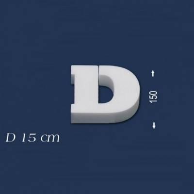 """Buchstabe """"D"""" - Größe 15 cm"""
