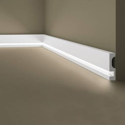 Außenwinkel |Lichtleiste / Deckenleiste | indirekte Beleuchtung| Wallstyl IL11 NMC | 80 x 20
