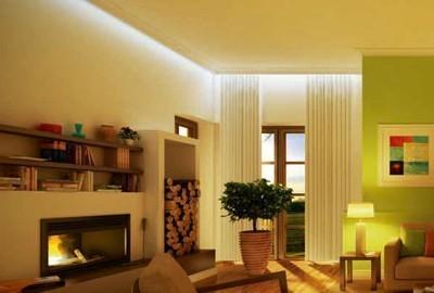 Indirekte Beleuchtung mit LED-Stuckleisten